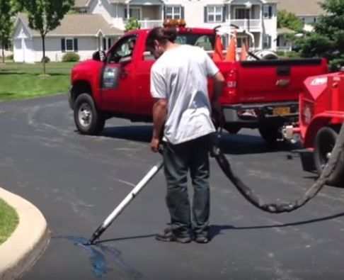 Hot Crack Sealing Parking Lot Repairs VA Beach Paving Pros VA Beach, VA
